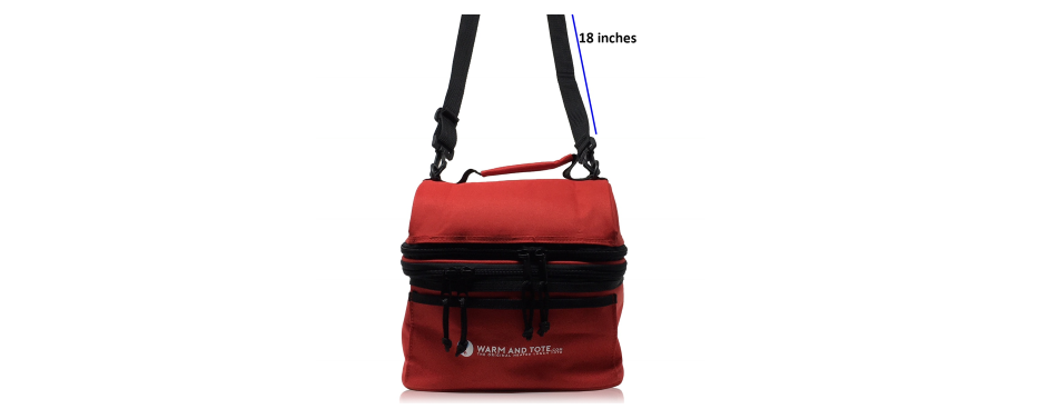 Generous 18 inches of shoulder strap